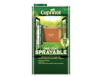 One Coat Sprayable Fence Treatment Autumn Gold 5 litre